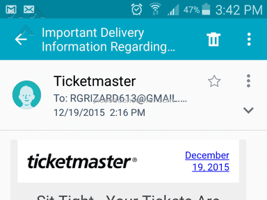 Ticketmaster - Event Ticket Review from Rocklin, California