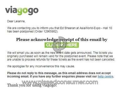 Viagogo Ed Sheeran Concert Ticket review 236034