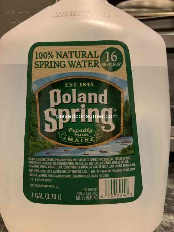 169 Poland Spring Reviews and Complaints @ Pissed Consumer