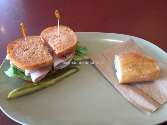 Panera Bread Bacon Turkey Bravo Sandwich