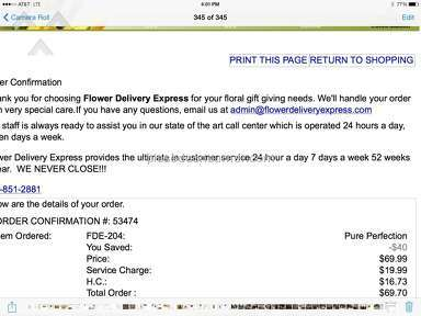 Flower Delivery Express Flowers / Florist review 46927