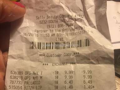 Sally Beauty Supply Customer Care review 147838