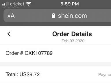 Shein Customer Care review 516513