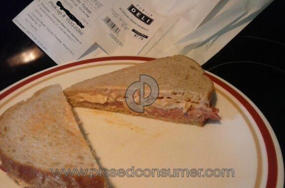 Publix Reuben Sandwich