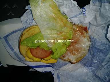 Jack In The Box - Hamburger without meat