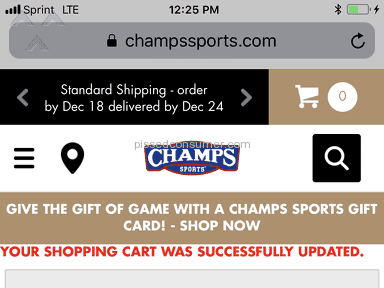 Champs Sports - LOYAL  BUYER; BUT *** CHAMPS!!