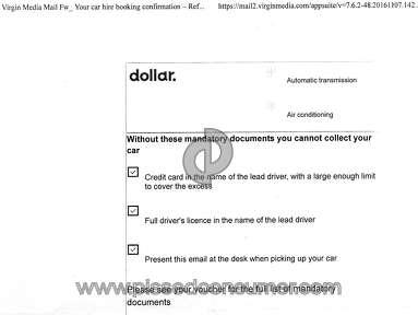 CarTrawler Car Rental Booking review 268448