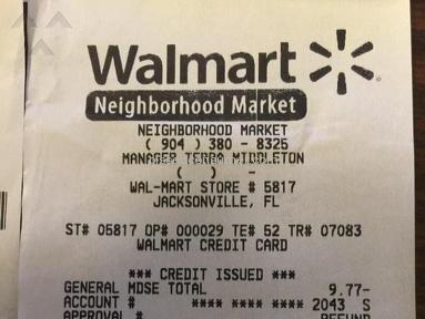 Walmart Cashier review 103141