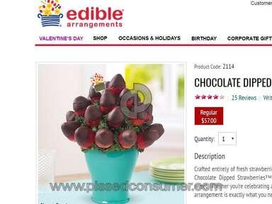 Edible Arrangements Chocolate Dipped Strawberries Box Fruit Arrangement review 192686