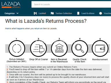 Lazada Philippines Shipping Service review 329078