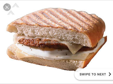 Panera Bread Sausage Egg And Cheese Sandwich review 267402