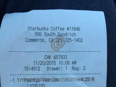 Starbucks Passion Tango Brewed Tea Review from Bellflower, California