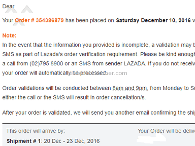 Lazada Philippines Shipping Service review 182904