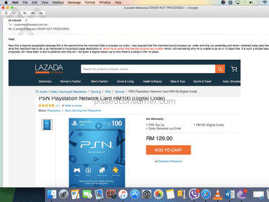 Lazada Malaysia Customer Care review 147510