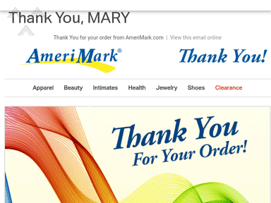 Amerimark - Duplicate order and double billing