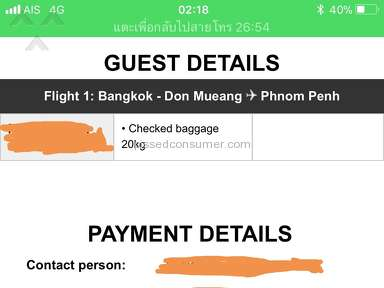 Air Asia - Bought buy ticket on March 5th for a trip from Bangkok to Phnom Penh Cambodia. Use my debit card and the transaction was completed and receive an itinerary.
