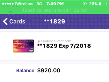 Rushcard - Prepaid Card Review from Des Moines, Iowa