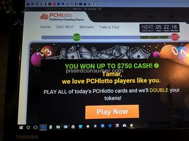 Pchlotto - Won!!!  Then Told I Didn't Win...