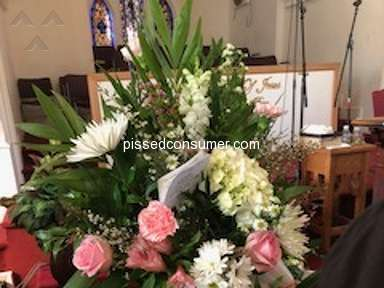 Avasflowers Pink And White Sympathy Arrangement review 273642