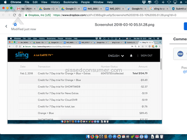 Sling Tv - 7 day free trial comes after two months payment non refundable no customer service, no refund after 2 day trial
