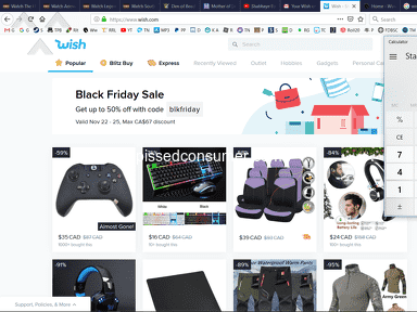 Wish - Recent black Friday coupon is fake