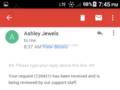 Ashley Jewels - Shipping Service Review from North Providence, Rhode Island