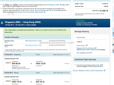 Expedia Flight Booking review 185642