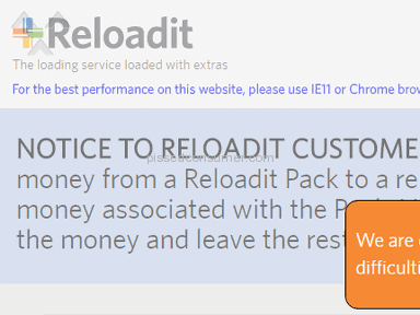 Got a Reloadit card and it's still having technical difficulties.