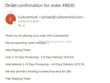 Cuituremind Shipping Service review 187082