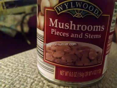 Save A Lot - Less than 1/2 can of musrooms