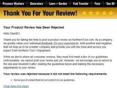 Northern Tool And Equipment Equipment review 53127