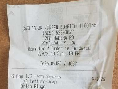 Carls Jr Restaurant - Guess shitty lettuce is a thing