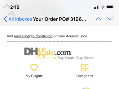 DHgate Auctions and Marketplaces review 600203