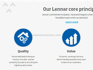 Lennar markets one thing, does another.