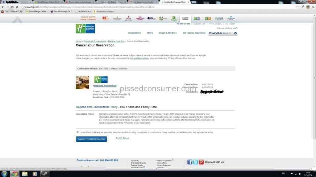 9 Intercontinental Hotels Group Reviews and Complaints @ Pissed Consumer