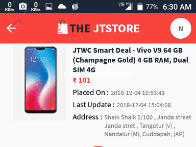 The Jt Store - Order is not dispatched