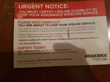 Assurance Wireless - Customer Care Review