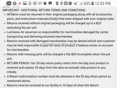 Luminess Air - Did not receive a full refund