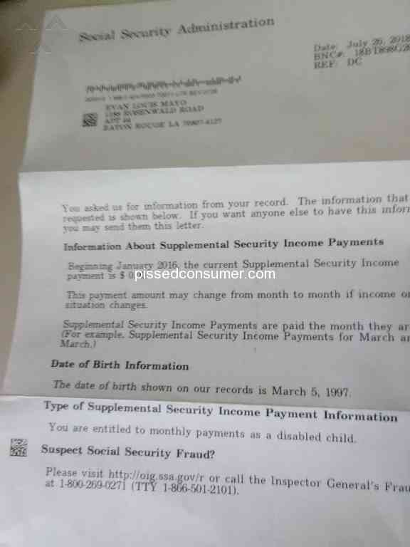 122 Social Security Administration Customer Care Complaints And Reports Page 2 Pissed Consumer
