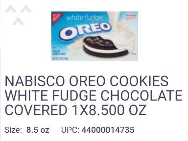 Oreo White Fudge Covered Chocolate Sandwich Cookies: Limited Edition