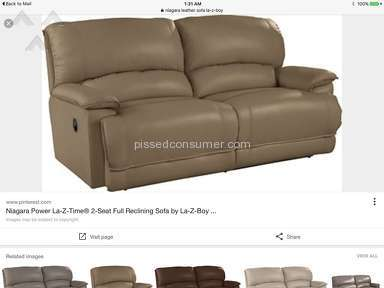 Lazboy Niagara Leather Sofa review 155912