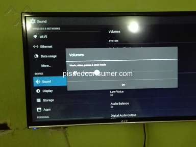 "Lazada Philippines - The speaker of ACE smart tv 32"" apps disable"