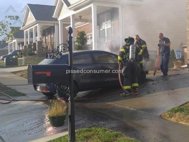 Kia Motors - 2013 Kia Rio EX Bursts into flames while parked in driveway