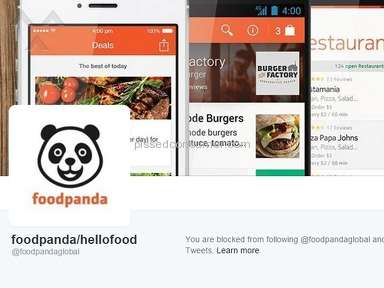 Foodpanda Customer Care review 87091