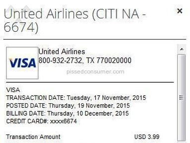 United Airlines - NEVER EVER PURCHASE FOOD ON BOARD UNITED - paid $3.99 charged $20 to my credit card