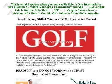 Hole In One International Insurance review 172516