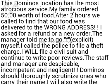 Dominos Pizza Pizza review 110955