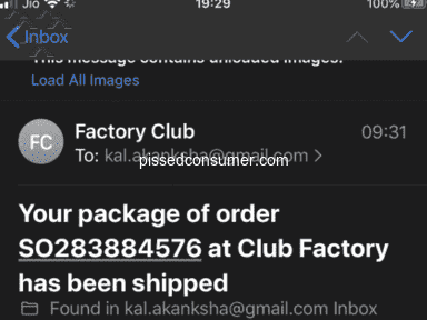 Club factory Shipping Service review 656301