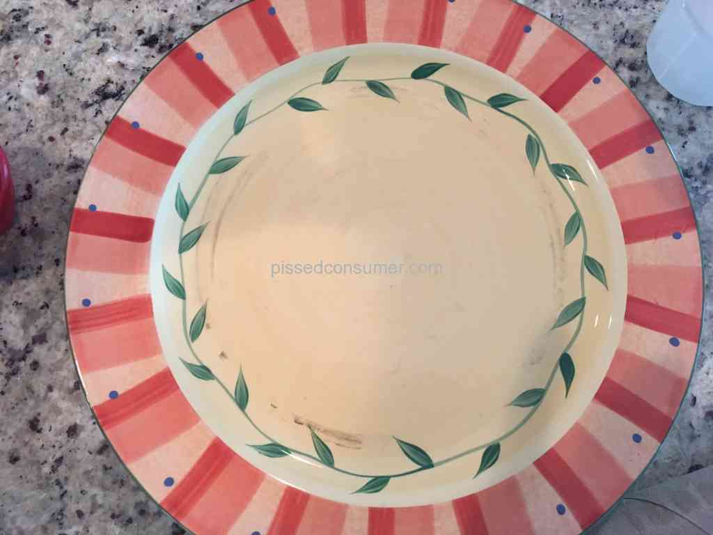 Pfaltzgraff - Chipped way too easily and black mold was growing on the bottom ring of & 10 Pfaltzgraff Dinnerware Reviews and Complaints @ Pissed Consumer