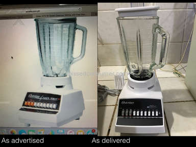 Lazada Philippines - I ordered a 4172 Oster Blender. What they put in the picture is not the same as then they delivered to me. The product and the description don't match with one another. And they don't want to return m